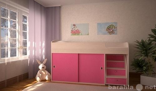 Продам Кровать чердак Малыш Купе дуб-розовый