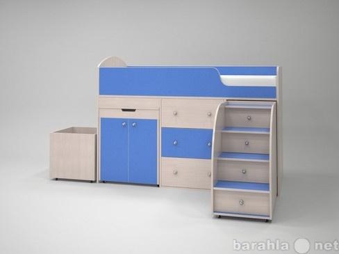 Продам Кровать-чердак Малыш дуб-голубой