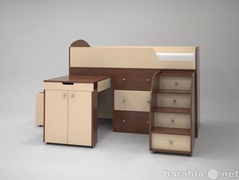 Продам Кровать-чердак Малыш орех-беж