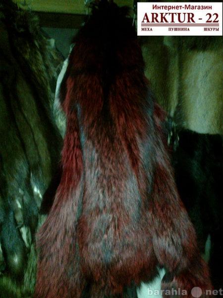 Предложение: Шкура лисы чернобурой крашеная