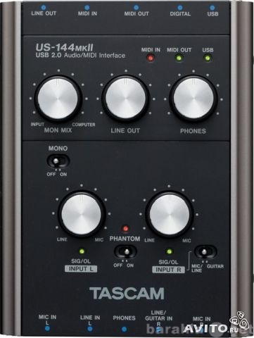 Продам Tascam US 144 mkII USB Audio Interface