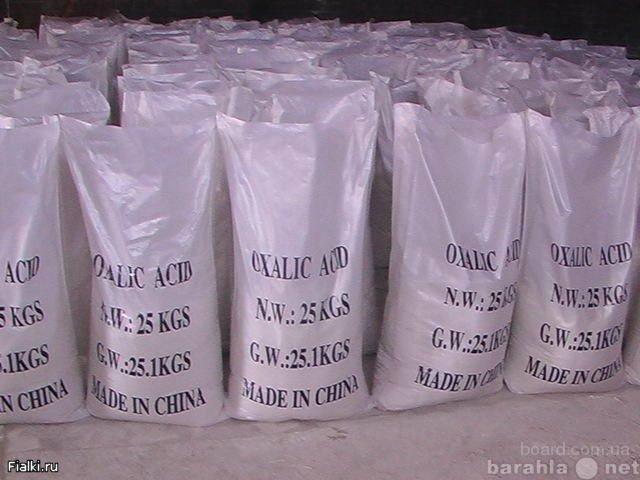 Продам Щавелевая кислота Китай