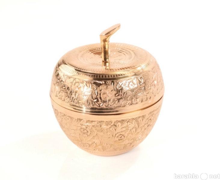 Продам Сахарница большая (яблоко) из латуни