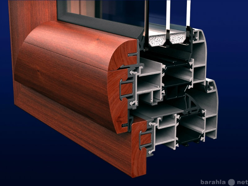 Продам Алюминиево-деревянные окна Grand