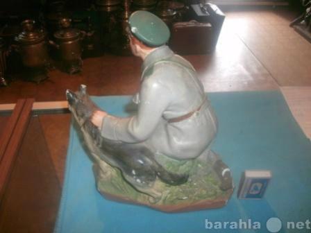Продам Скульптура Пограничник с собакой СССР