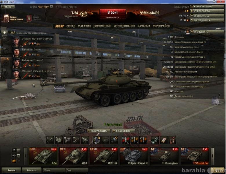 Продам аккаунт от танков World of Tanks