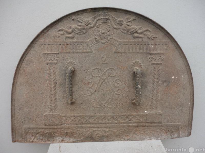 Продам Заслонка для печи чугунная литая 19 век