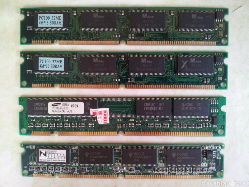 Продам SDRAM PC-100 4x32Mb (128Mb)