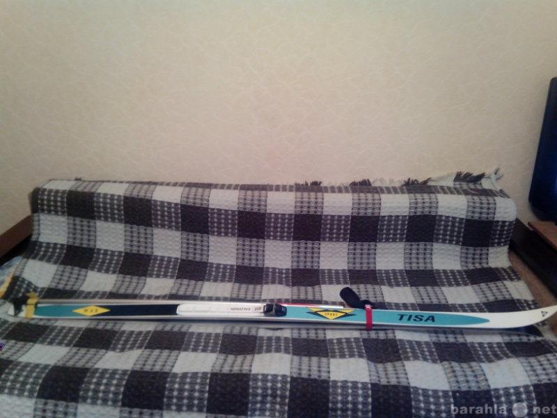 Продам Комплект: Лыжи+крепления+лыжные палки