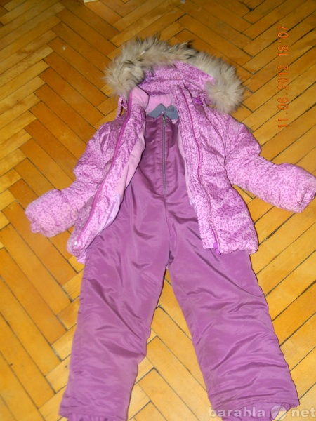 Продам Зимний комплект куртка+полукомбинезон