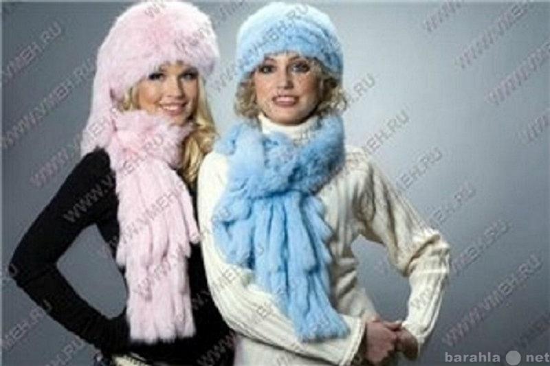 Продам Новый шарф с кистями из вязанного меха