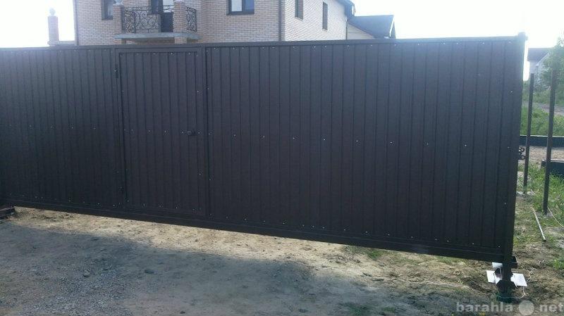 Продам Откатные ворота 3,5*2,0 м с калиткой