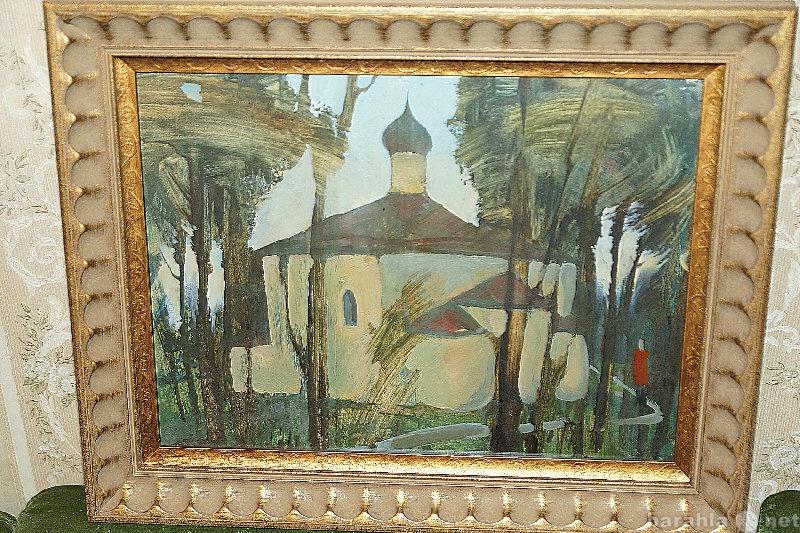 Продам Картина «Псковский храм». СССР, 1950-е г