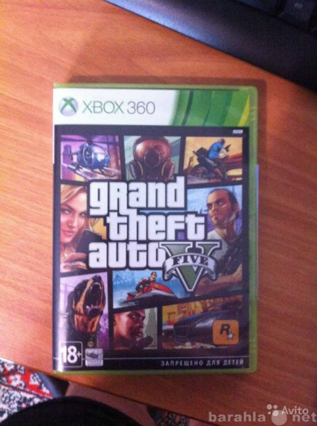Продам GTA 5 на Xbox 360