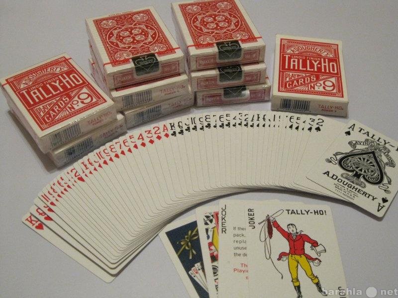 Продам: Карты игральные Tally Ho N9 fan back red