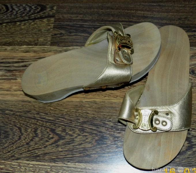 Продам Сланцы р.35-36 на деревянной подошве