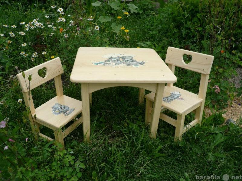Продам Детский стол и стул  с росписью