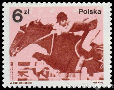 Продам Марка 6zt Polska Польша 1983 Кони
