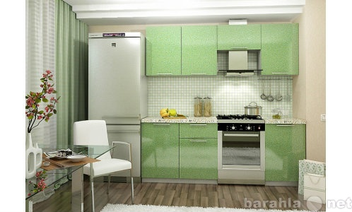Продам Кухонный гарнитур Олива 2,1 м (зеленый)