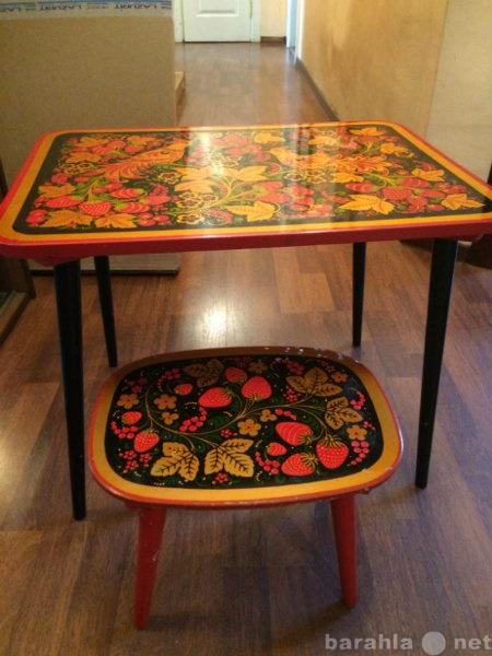 Продам стол детский и стул ,роспись Хохлома