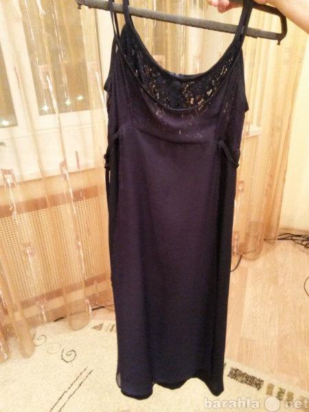 Продам: платье темно - синее. Лифт кружевной.