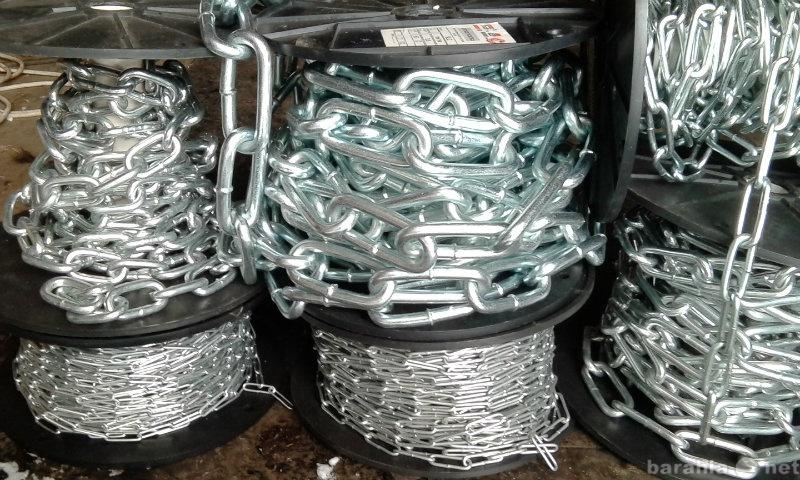 Продам металлические оцинкованные цепи
