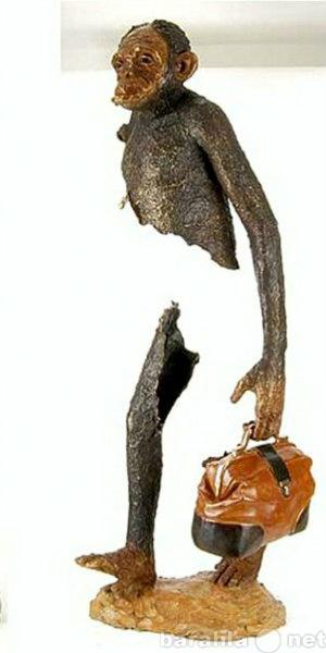 """Продам скульптура""""Обезьяна-путешественниц"""