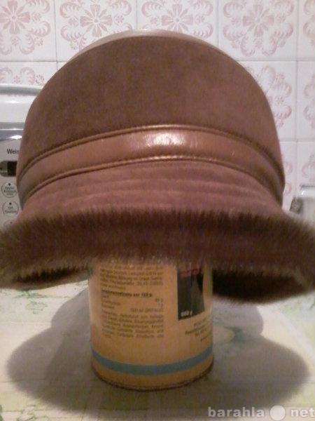 Продам: Шляпка женская кожаная новая р.56-58