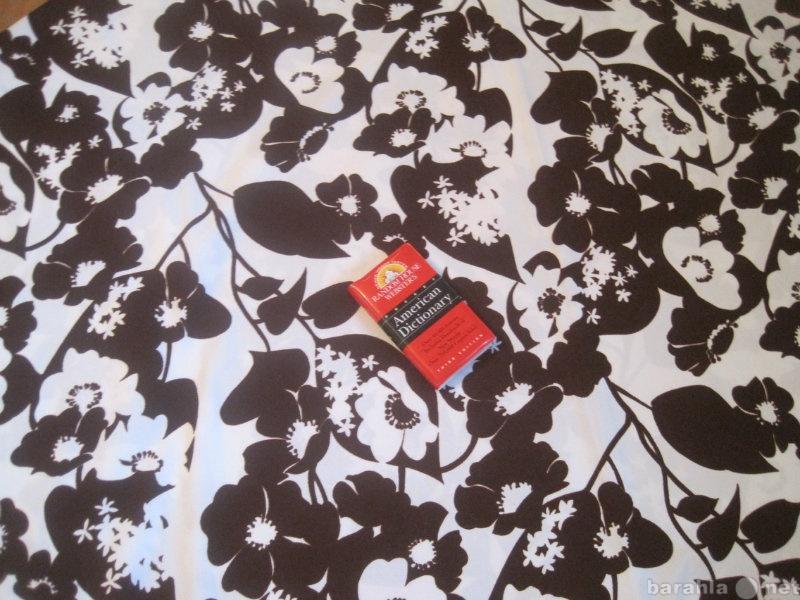 Продам Отрез ткани в бело - коричневых тонах