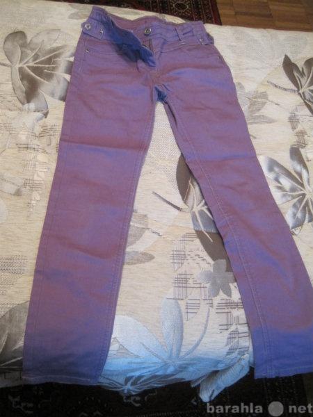 Продам: Сиреневые джинсы 140 в поясе ширина 28