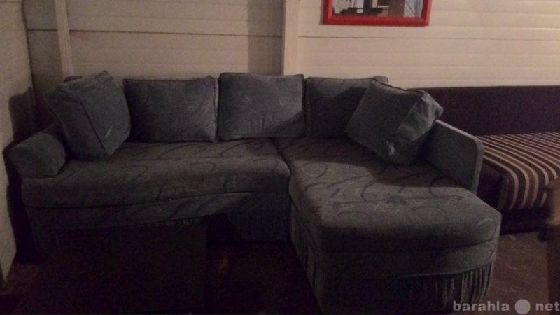 Продам Угловой диван, синий с беспл. доставкой