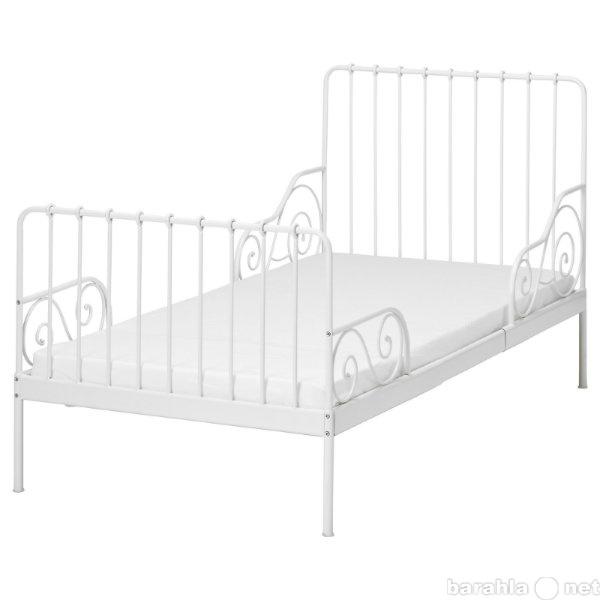 Продам Кровать детская белая метал. трансформер