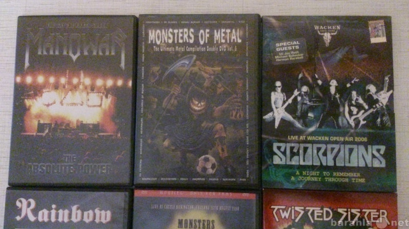 Продам Рок музыка на DVD-дисках