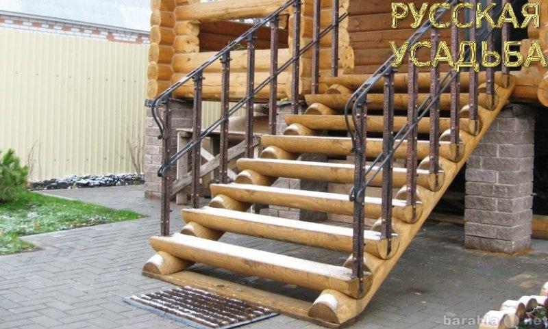 Продам Лестницы из оцилиндрованного бревна
