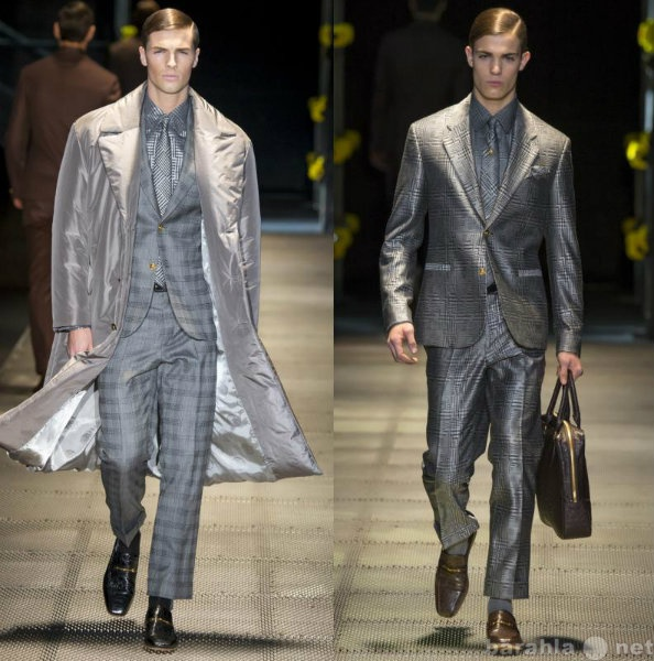 Продам Стильный мужской костюм в модную клетку