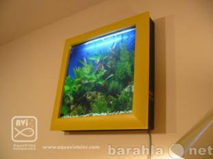 Приму в дар настенный аквариум