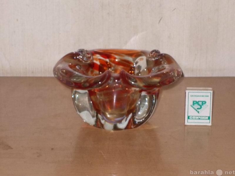 Продам Ваза цветное стекло (Чехословакия)