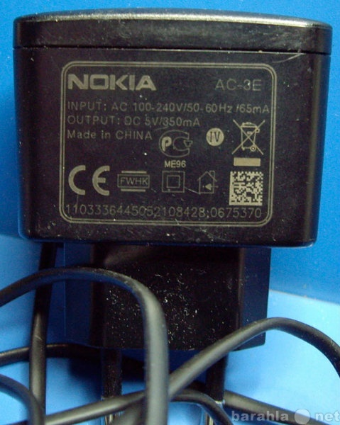 Продам: Зарядное устройство Nokia AC-3E тонкий ш