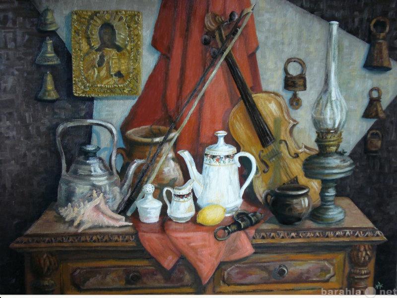 Продам Картина маслом натюрморт с керосиновой л