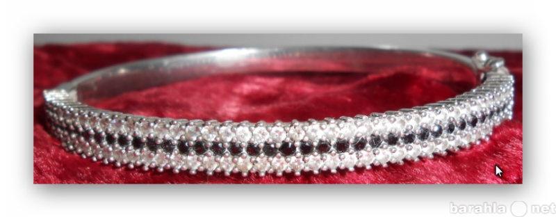 Продам Винтажный Серебреный браслет с камнями