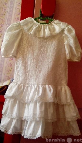 Продам 134-146 нарядное, белое, кружевное