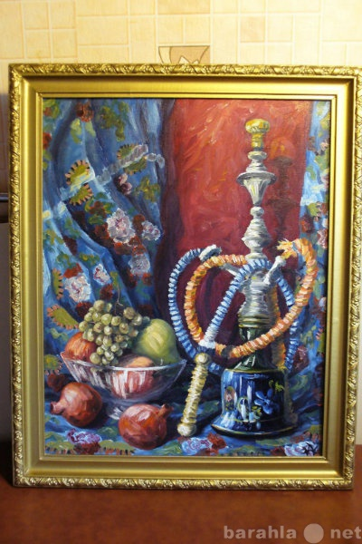 Продам картина кальян и фрукты