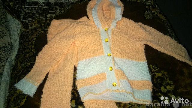 Продам Вязанный костюмчик 74-80.