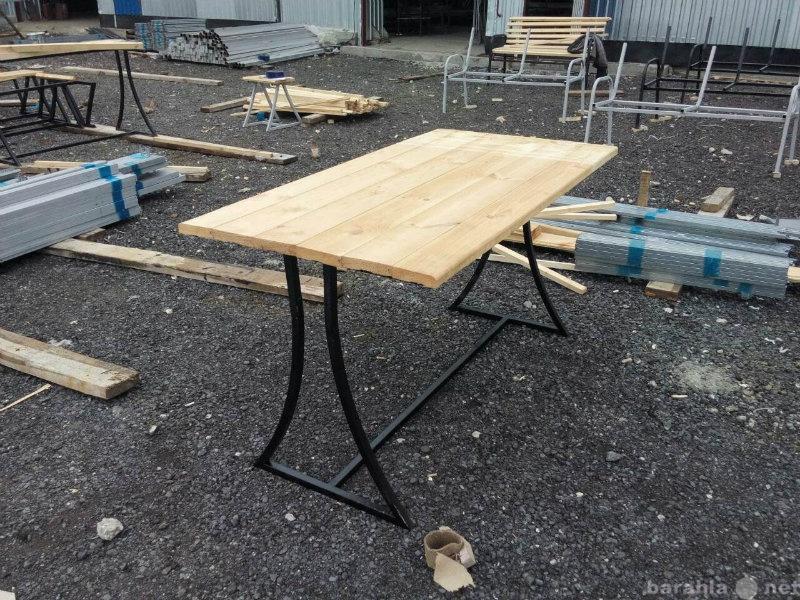 Продам стол прямоугольный из профильной трубы