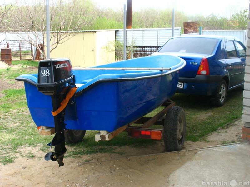 Продам пластиковая лодка с мотором