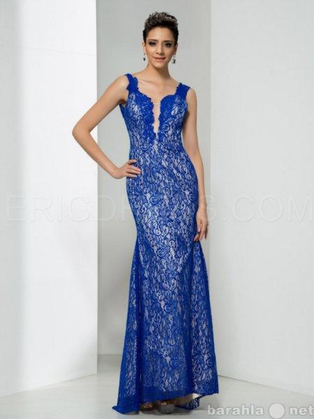 Продам Длинное голубое  платье на выпускной
