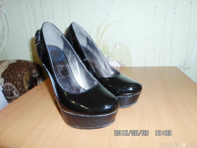 Продам продаю туфли 37 р. чёрные.лак