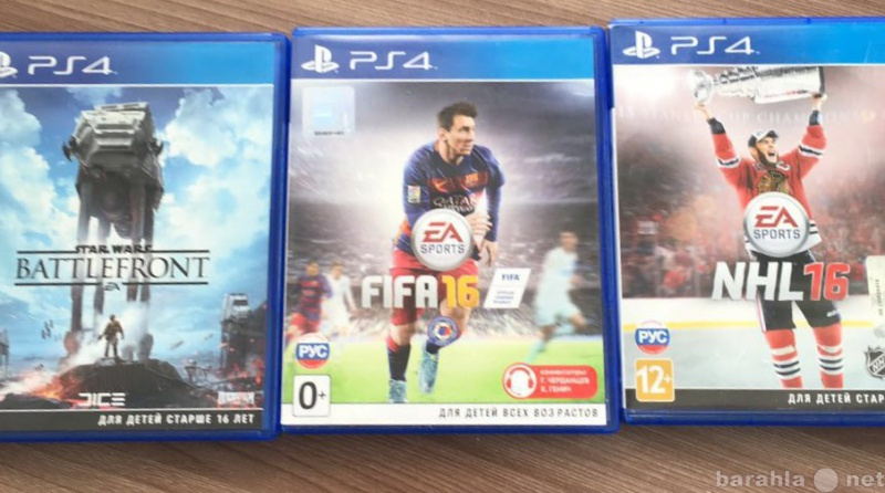 Продам Для ps4: Star Wars, FIFA16, NHL16