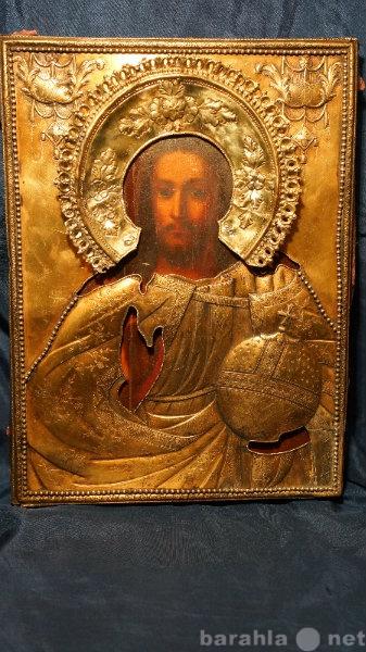 Продам Икона Спасителя в серебряном окладе.1791