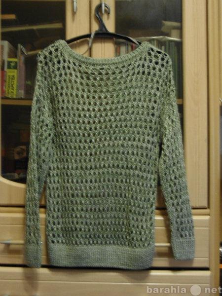 Продам Пуловер с ажуром - сеткой оливковый